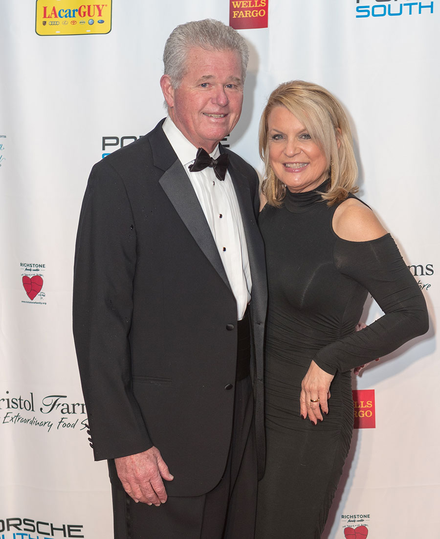 Mark and Anita Smith attending the Richstone Gala