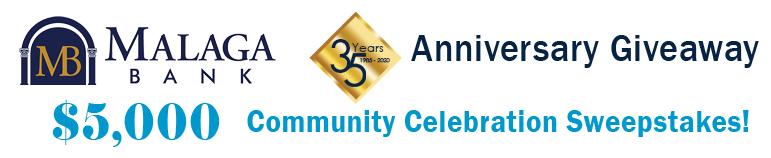 Community Celebration Sweepstakes banner